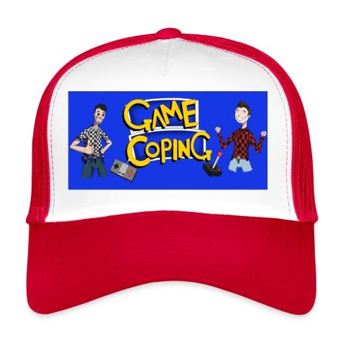 Game Coping Happy Banner - Trucker Cap