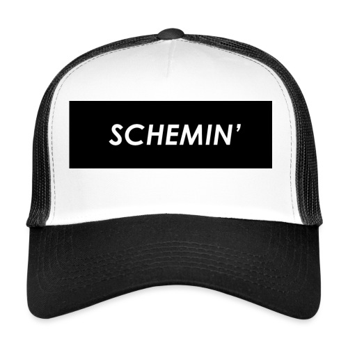 SCHEMIN' Black/White colour way - Trucker Cap