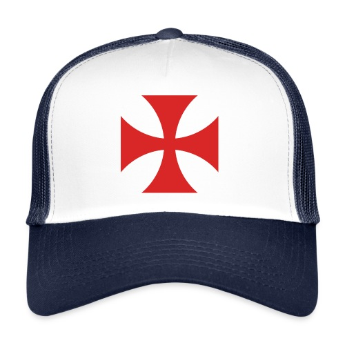 2000px Cross Pattee red svg png - Trucker Cap