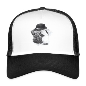 pug with bowler - Trucker Cap