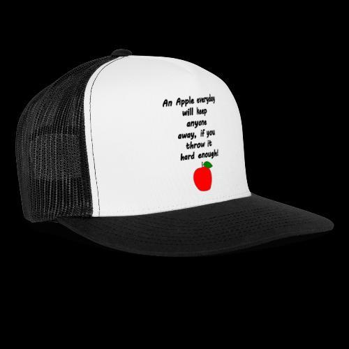 Apple Apfel Doctor Zitat Spruch Lustig - Trucker Cap