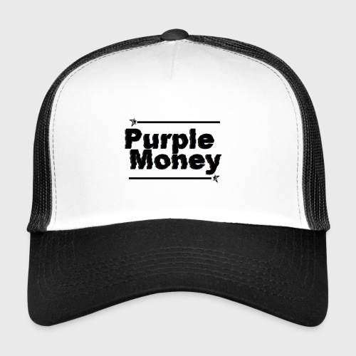 PurpleMoney Glitch Logo - Trucker Cap