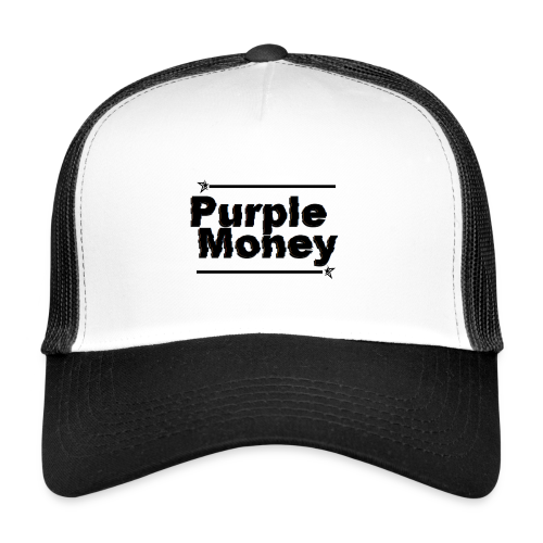 PurpleMoney Glitch Logo - Trucker Cap