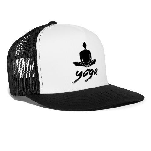 yoga nero yogi namaste pace amore arte hippie - Trucker Cap