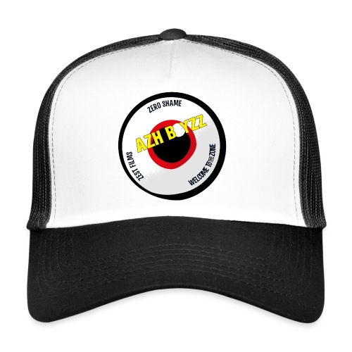 A&B • Eyeball with slogan (1 print: front) - Trucker Cap
