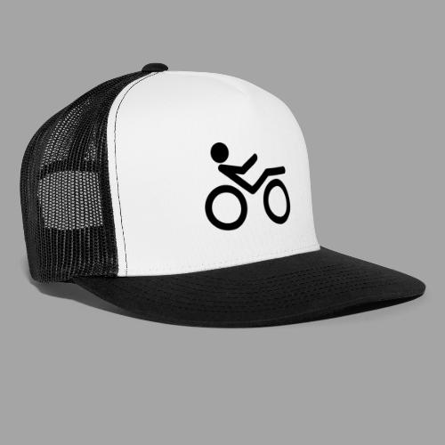 Recumbent bike black 2 - Trucker Cap