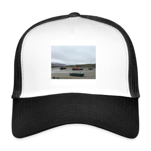 boats on barmouth beach - Trucker Cap