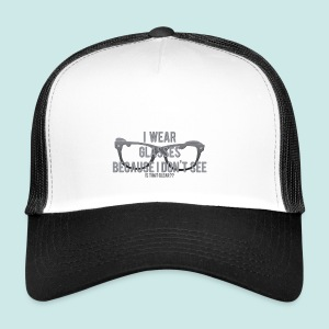 Wearing Glasses - Black - Trucker Cap