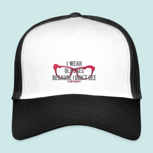 Wearing Glasses - Red - Trucker Cap