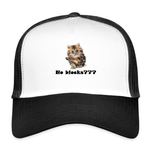 No block kitten - Trucker Cap