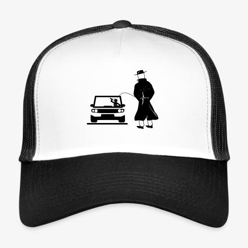 Pissing Man against drunk driving - Trucker Cap