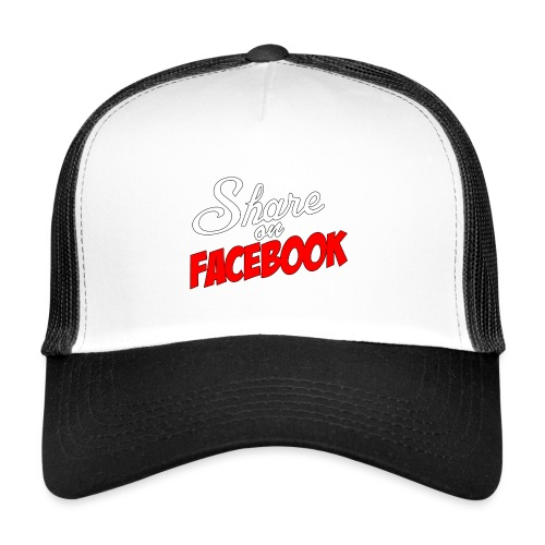Share_on_fb_RED - Trucker Cap