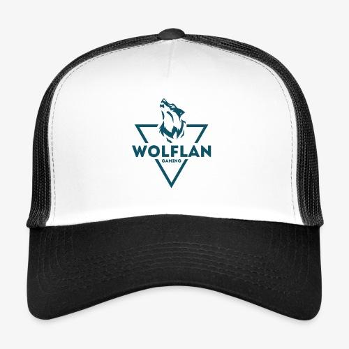 WolfLAN Logo Gray/Blue - Trucker Cap