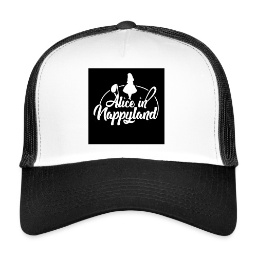 Alice in Nappyland TypographyWhite 1080 - Trucker Cap