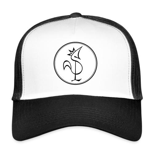 Pitou Noir fond blanc - Trucker Cap