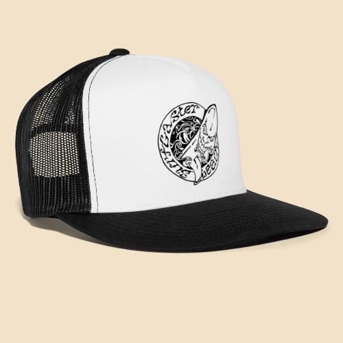 Surfcaster Beach Svart Logo - Trucker Cap