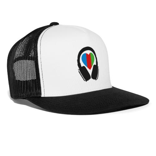 Silent Disco Headphone > Heart | black - Trucker Cap