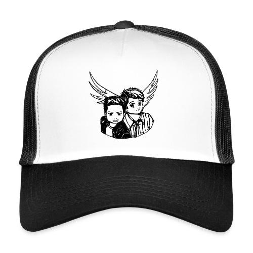 Destiel i sort/hvid - Trucker Cap