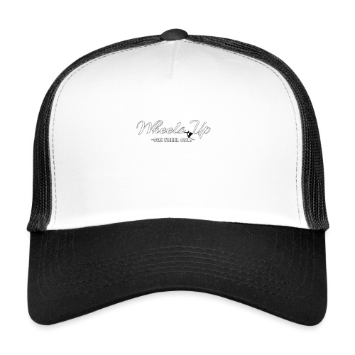 wheels up black figure - Trucker Cap