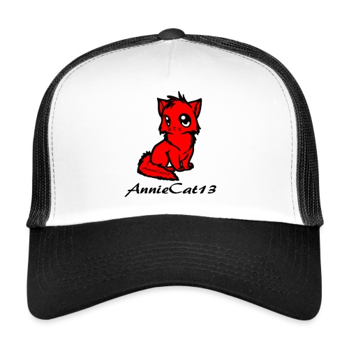 annie cat logo for with writing png - Trucker Cap