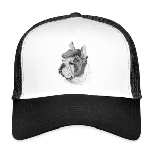 French Bulldog w/beret - Trucker Cap