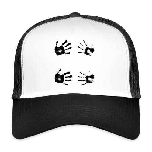 Schwarze Handabdrücke. Geschenk - Trucker Cap