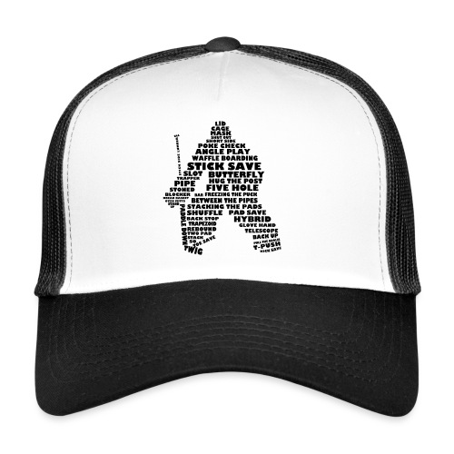 Language of Hockey (Goalie version, black print) - Trucker Cap
