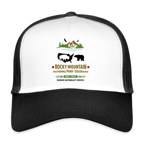 Rocky Mountain Nationalpark Berg Bison Grizzly Bär - Trucker Cap