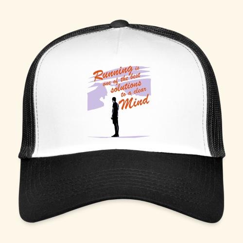 Filosofico - Runnig is one the best solutions - Trucker Cap