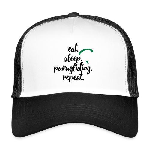 eat. sleep. paragliding. repeat. - Trucker Cap