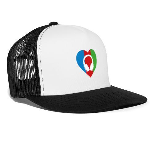Silent Disco Love RGB | Headphone White - Trucker Cap