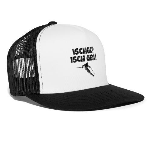 Ischgl Ischgeil (Vintage Schwarz) Ski Skifahrer - Trucker Cap
