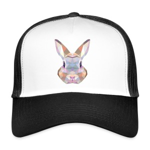 Triangle vector bunny - Trucker Cap