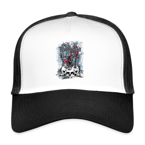rock n roll skulls - Trucker Cap