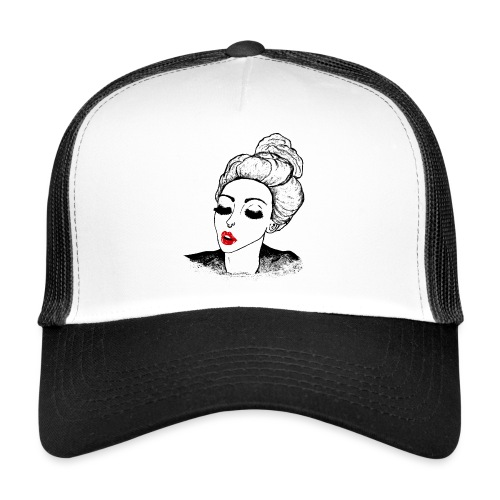 Vintage Retro Girl Kiss message - Trucker Cap
