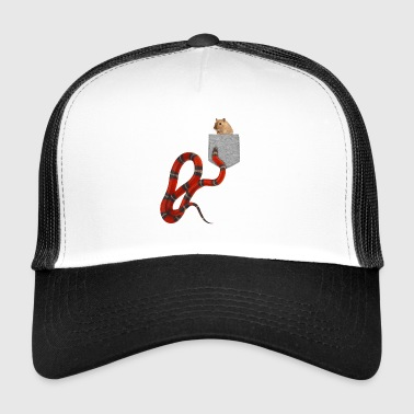Snake Reaching For Rodent In Your Fake Pocket - Trucker Cap
