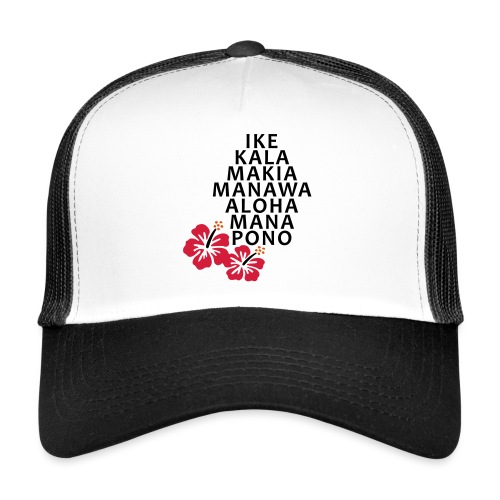 Die 7 Huna Prinzipien / Hibiscus Blüten - Trucker Cap