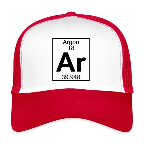 Argon (Ar) (element 18) - Trucker Cap