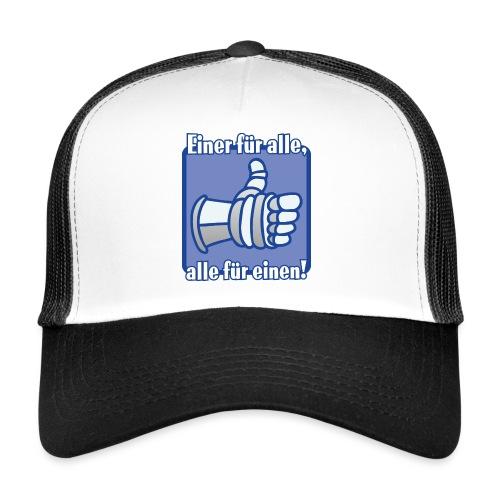 Kinder Langarmshirt - Einer für alle, alle für e - Trucker Cap