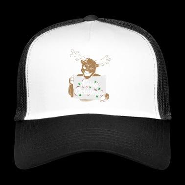 Merry Christmas Reindeer Christmas Gift - Trucker Cap