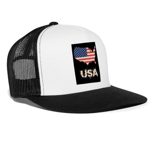USA FLAG 4th of July With Flag - Trucker Cap