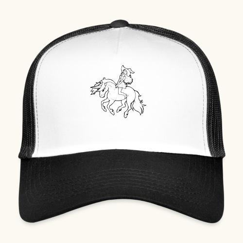 Monter une sorcière sexy sur une licorne. - Trucker Cap