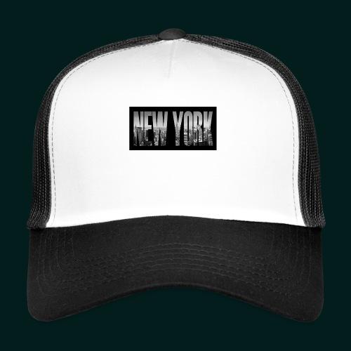 new-york-city-manhattan-overlook-melanie-viola - Trucker Cap
