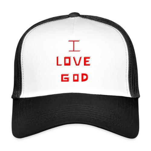I LOVE GOD - Gorra de camionero