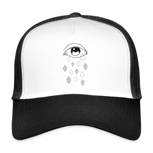T-shirt teardrops white - Trucker Cap