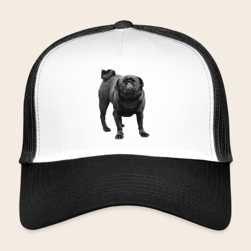 schwarzer Mops - Trucker Cap