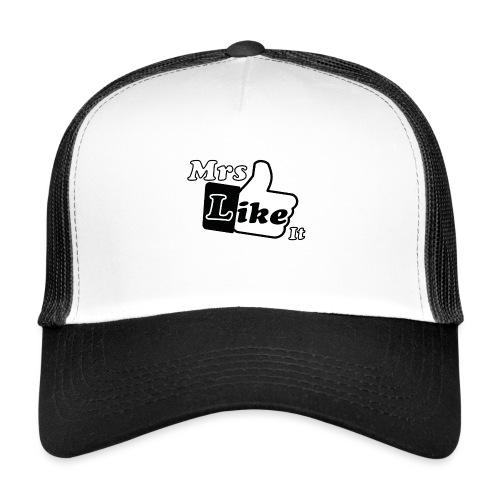 Mrs Like it - shirt (zwart-wit) - Trucker Cap