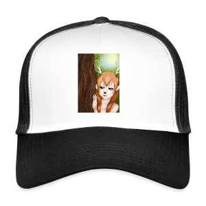 Womens tank: Deer-girl Design by Tina Ditte - Trucker Cap