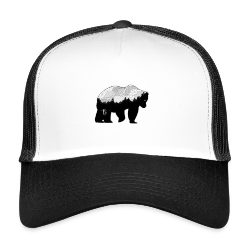 Geometric Mountain Bear - Trucker Cap