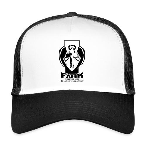 fark_logo_outline_black - Trucker Cap